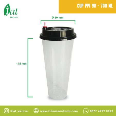 Beverage Cups PP Injection Cup 24 oz (D90 mm - 700 ml)  1 cup_black_cup_ppi_90_700ml
