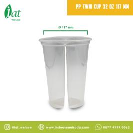 PP Twin Cup 32 oz D117  1000 ml