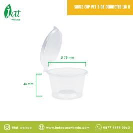 Sauce cup 34 oz Connected lid 120 ml